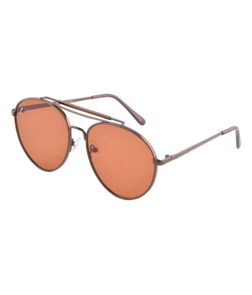 Fastag Orange Aviator Sunglasses ( FT-12 )