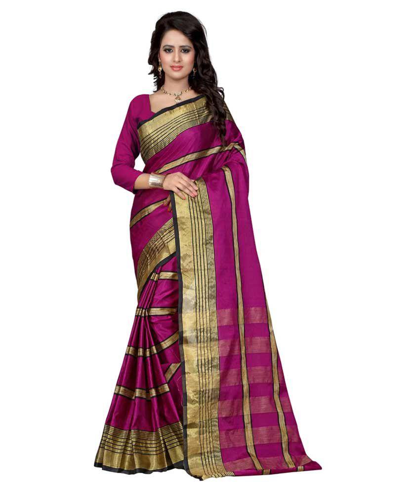 Lovit Fashion Pink Art Silk Saree