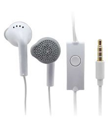 Sarthak Music Editions GnY-514 Ear Buds Wired Earphones With Mic White