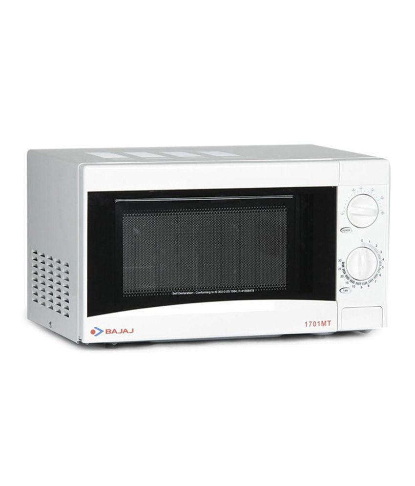 bajaj 17 ltr 1701mt microwave oven solo microwave oven. Black Bedroom Furniture Sets. Home Design Ideas