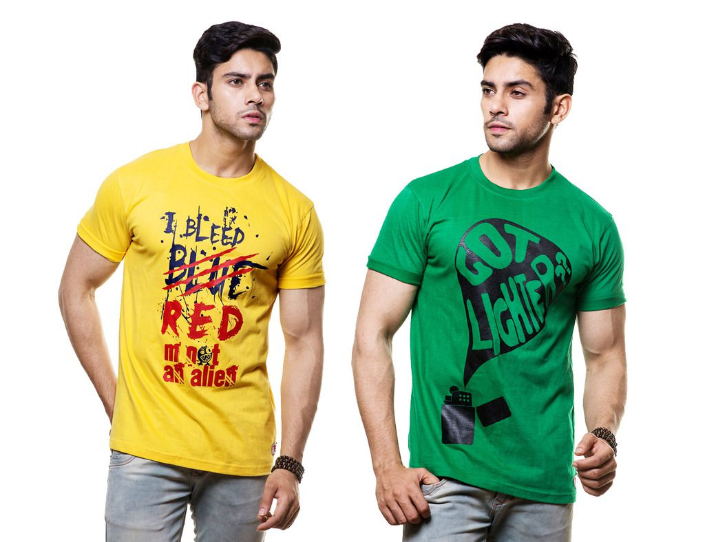 Hefty Multi Round T-Shirt Pack of 2