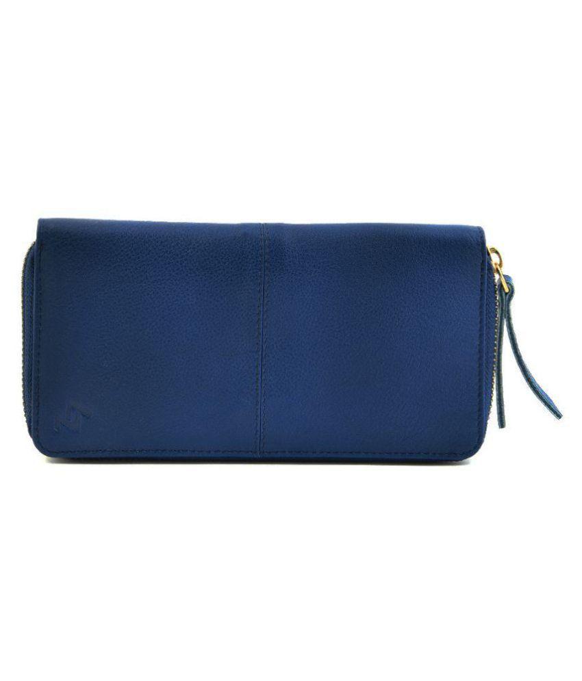 Leather Zentrum Blue Wallet
