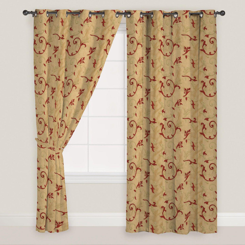 Presto Set of 2 Window Eyelet Curtains Floral Multi Color
