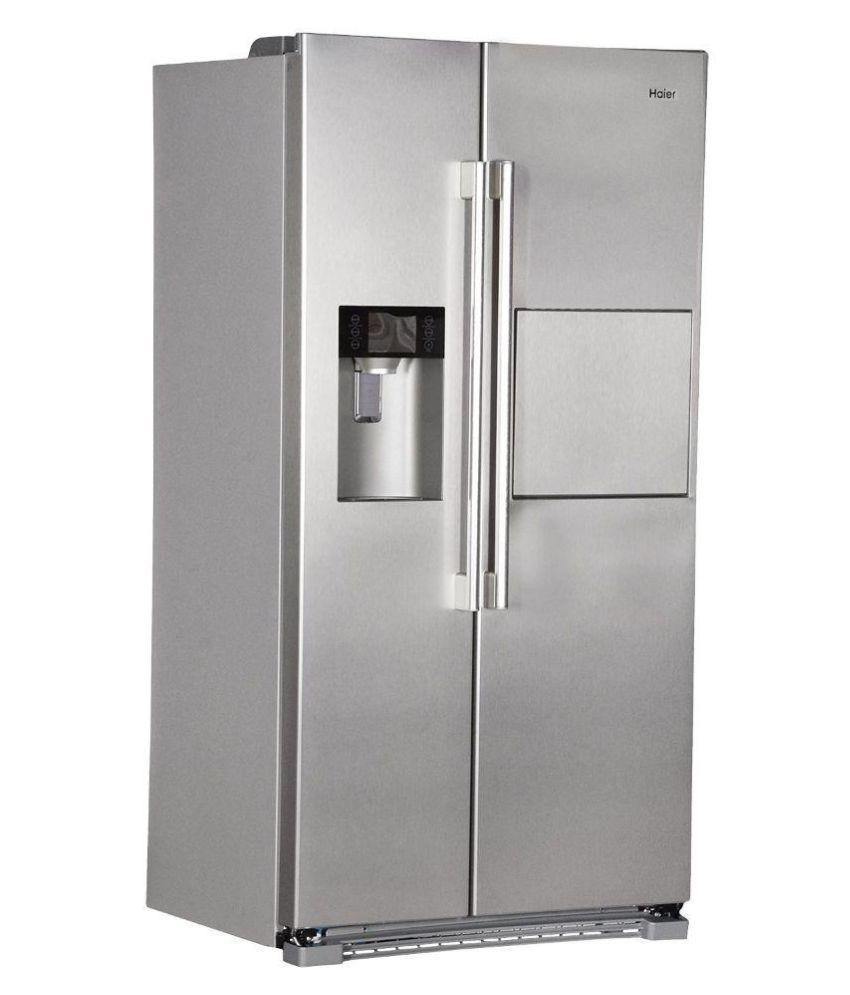 Haier 628 Ltr Hrf 628af6 Double Door Refrigerator Silver
