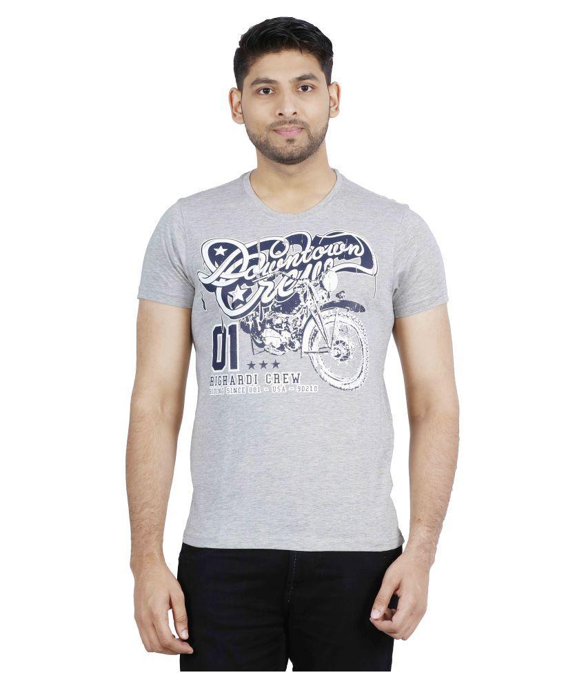 Righardi Grey Round T-Shirt
