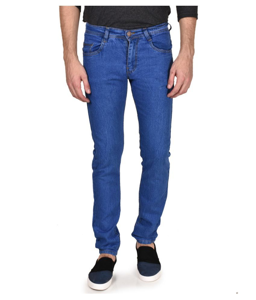 Routeen Light Blue Slim Solid