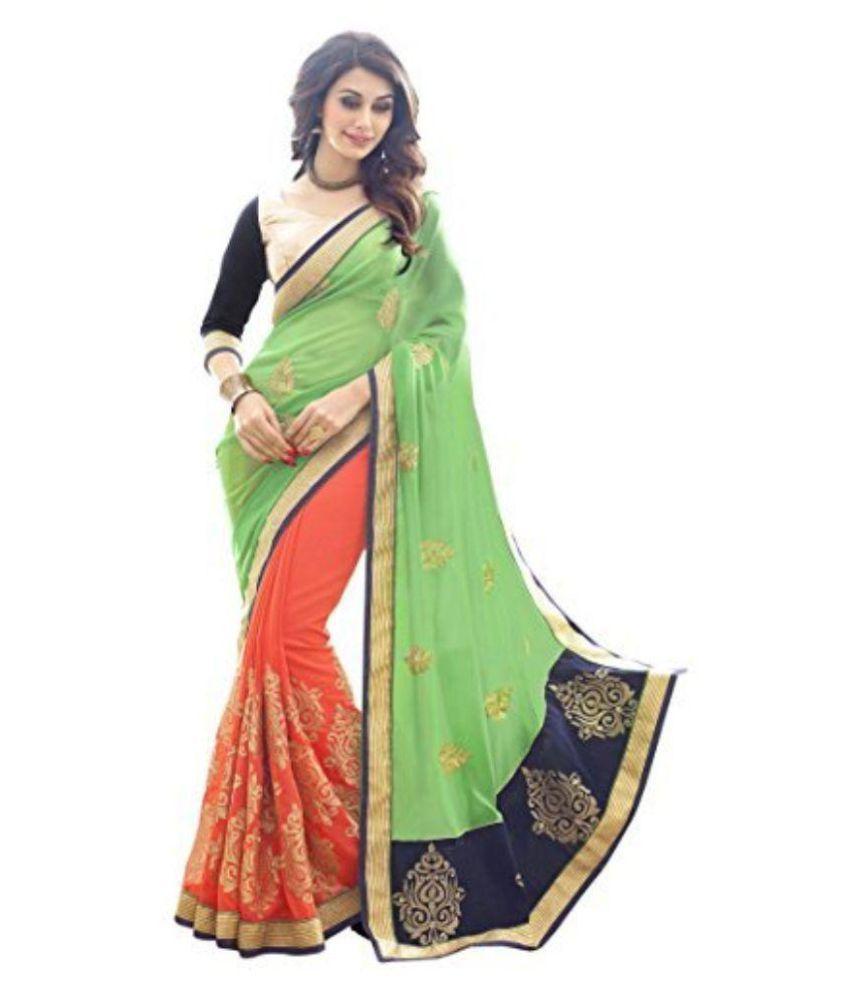 V Art Multicoloured Art Silk Saree