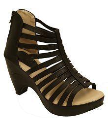 Shoe Lab Black Block Heels