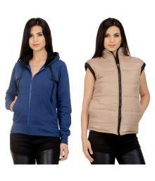 Darwin Multi Color Fleece Bomber Jackets With Sweatshirt