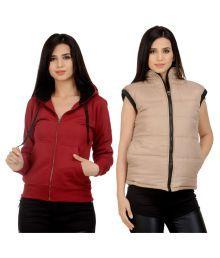 Darwin Multi Color Fleece Bomber Jackets With Sweatshirt - 653328420820
