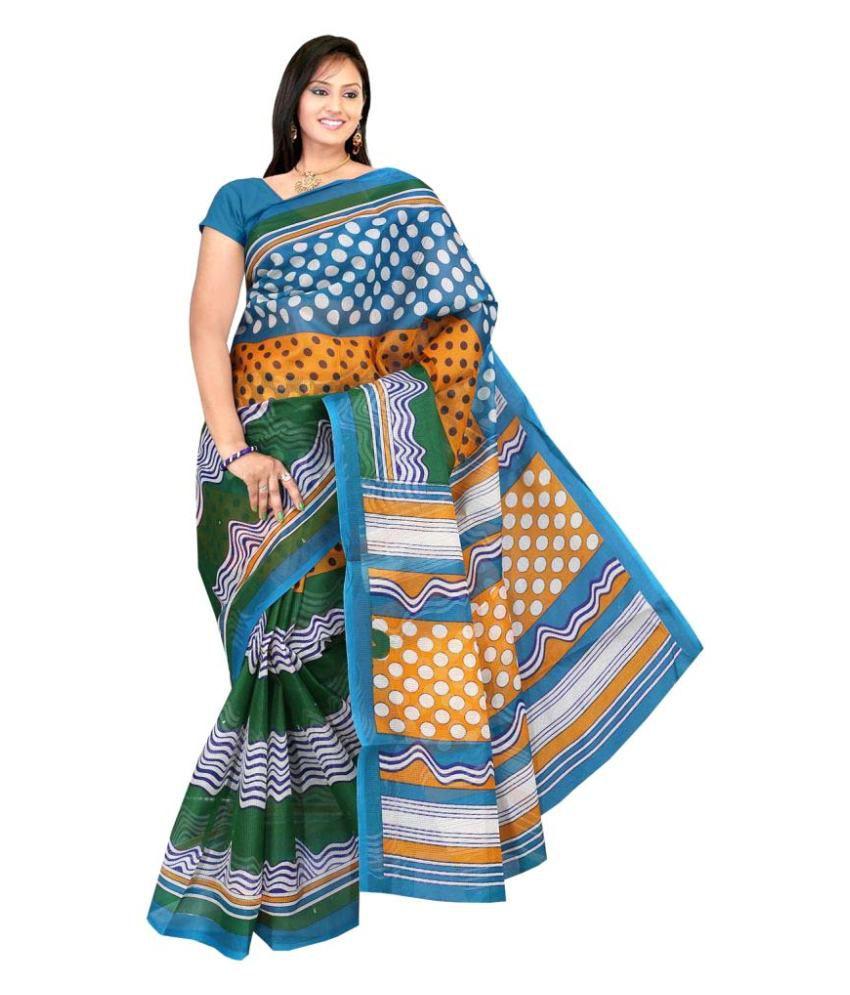 75e51ac4c47ea3 Gajkeshri Multicoloured Kora cotton Saree - Buy Gajkeshri Multicoloured Kora  cotton Saree Online at Low Price - Snapdeal.com