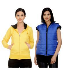 Darwin Multi Color Fleece Bomber Jackets With Sweatshirt - 630699771705