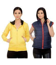Darwin Multi Color Fleece Bomber Jackets With Sweatshirt - 621869690731