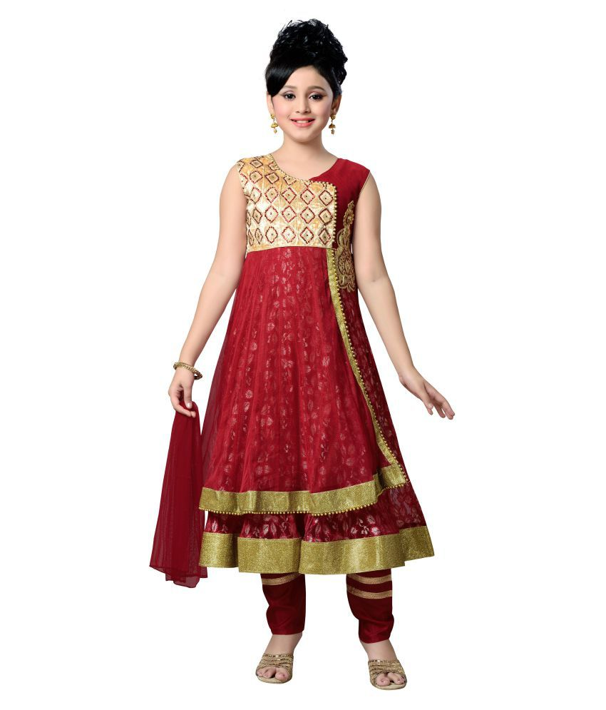 0873f8f3ca Aarika Maroon Net Anarkali Suit - Buy Aarika Maroon Net Anarkali Suit Online  at Low Price - Snapdeal