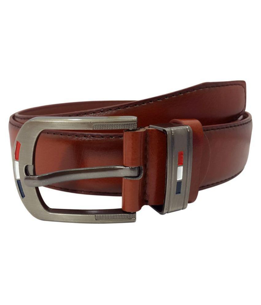 Oglivay Brown Leather Formal Belts