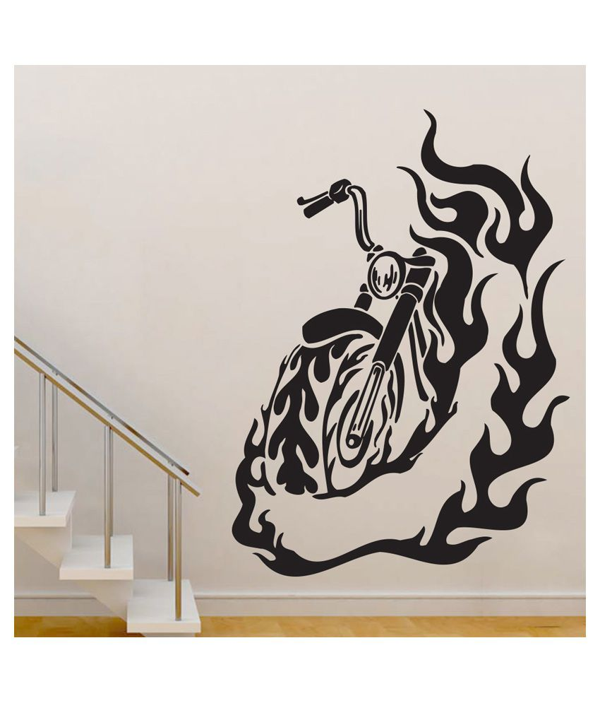 Wallmantra ghost rider bike vinyl wall stickers