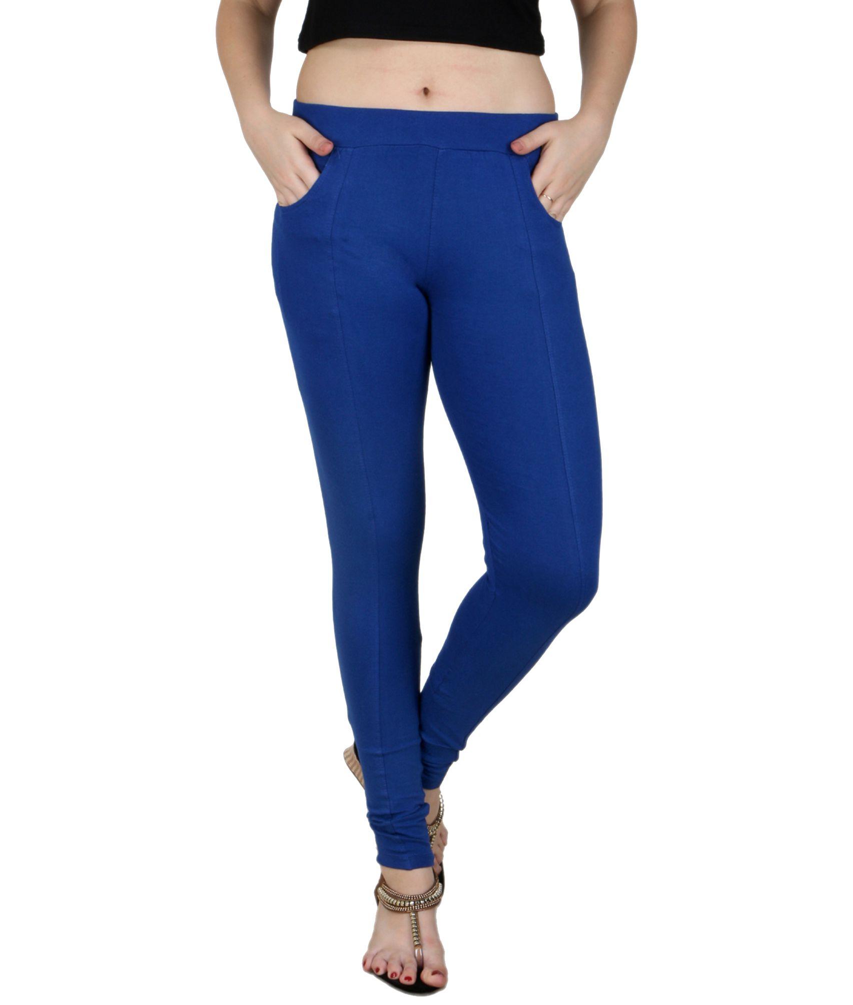 Baremoda Blue Cotton Lycra Jeggings