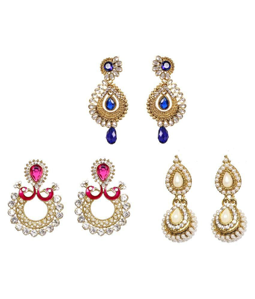 Lady Touch Multicolor Earrings - Set of 3