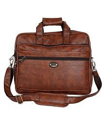 Goodwin Brown PU leather Office / College Bag