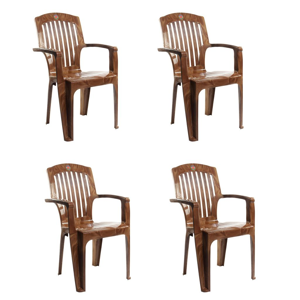 Snapdeal: Cello Commander High Back Chair in Brown (Set of 4) @ Rs.2,530/- (75% OFF)