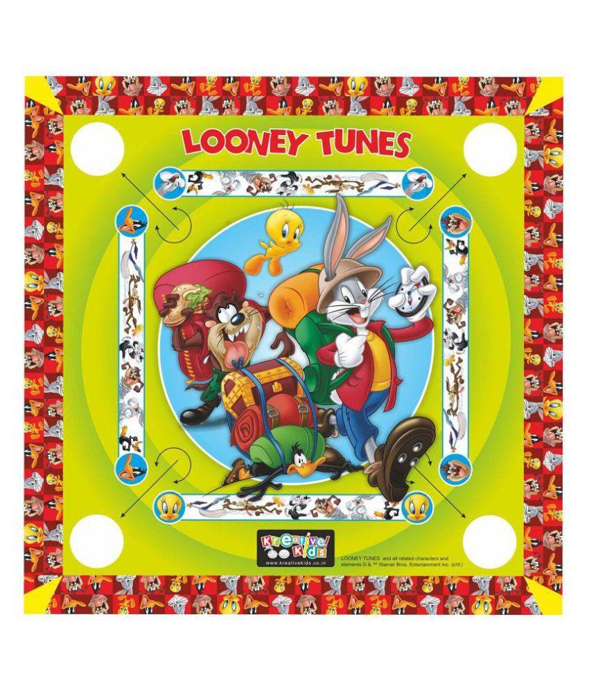 Looney Tunes Multicolor Carom Board Set