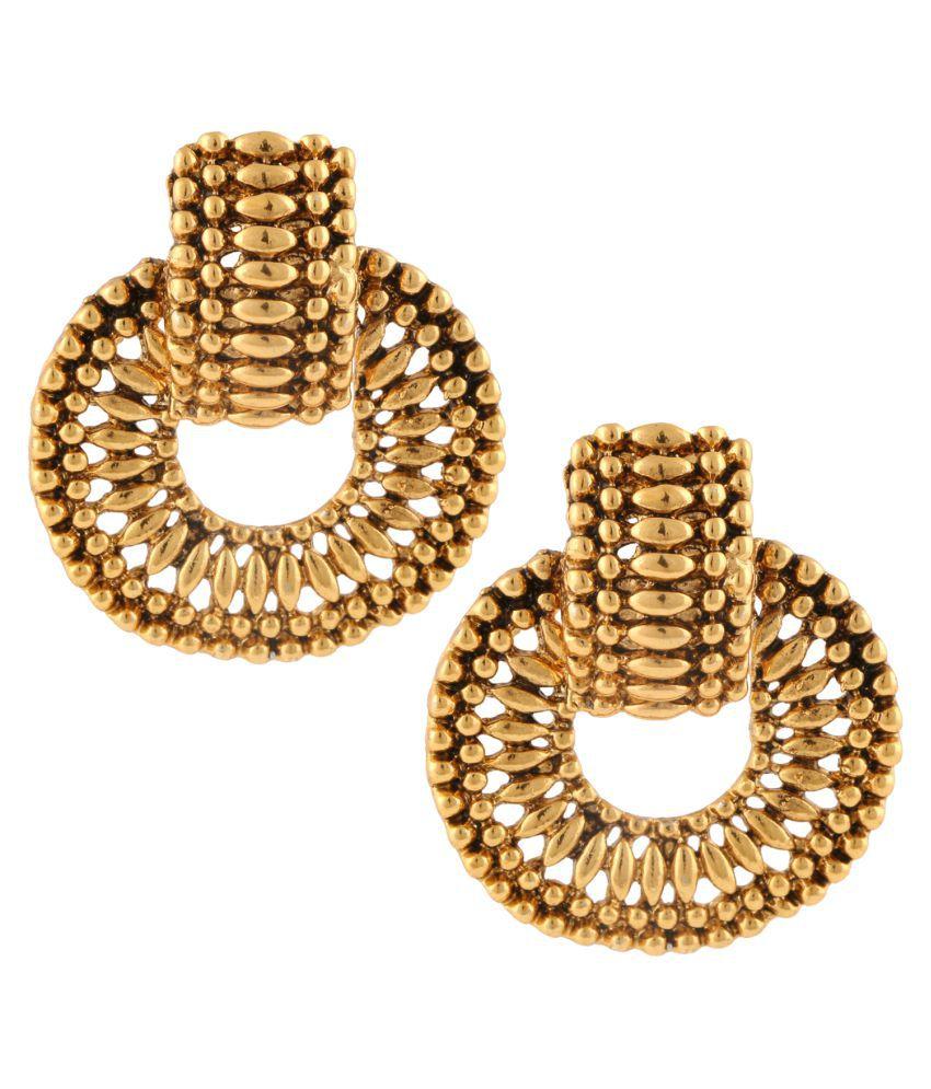 Dancing Girl Golden Hanging Earrings