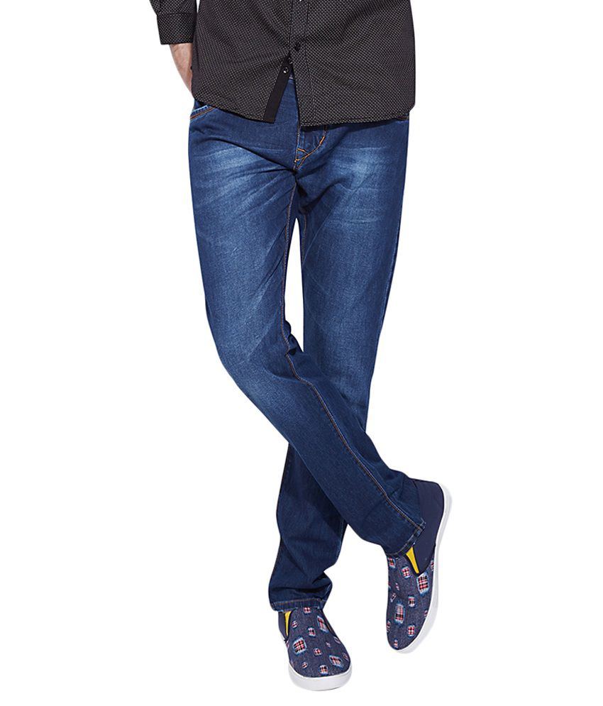 Go India Store Dark Blue Regular Fit Solid