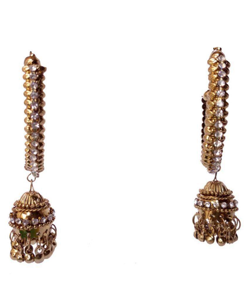 Shreya Overseas India Golden Jhumki Earrings