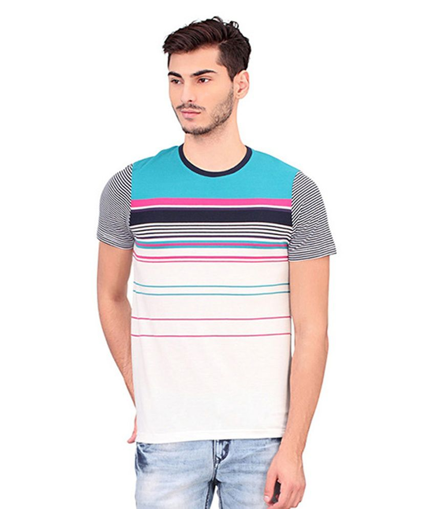 Bonaty Multicolour Regular Fit Polo T Shirt
