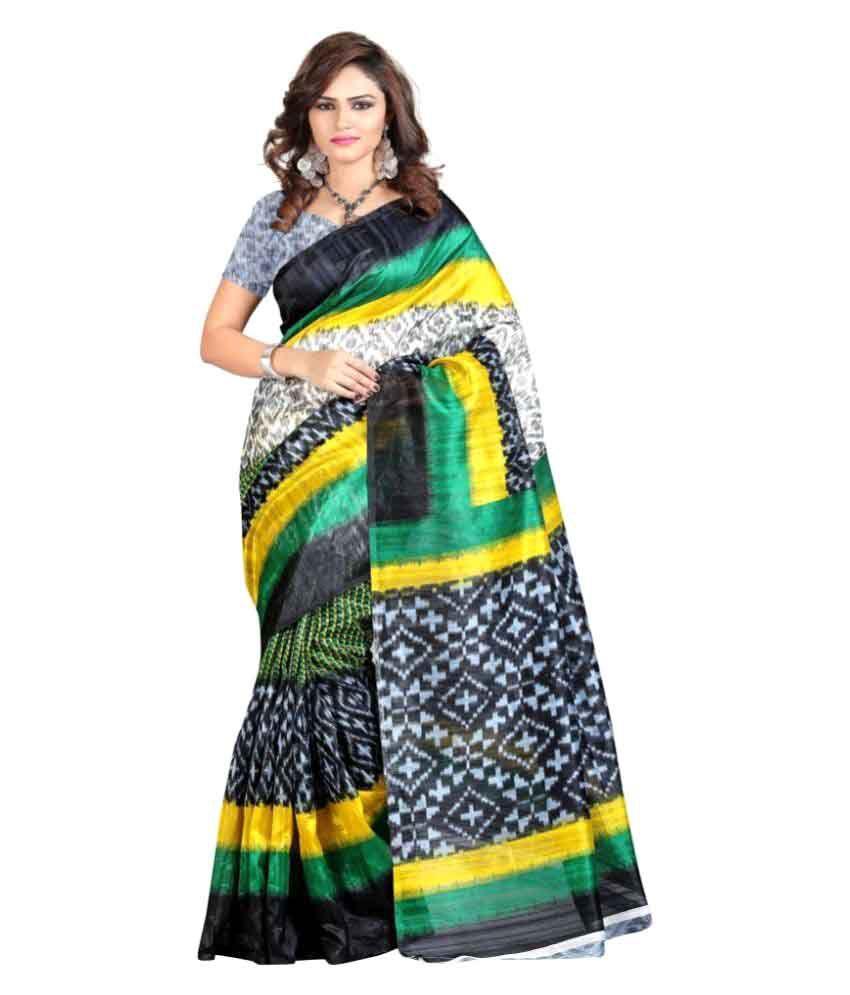 Edeal Multicoloured Bhagalpuri Silk Saree