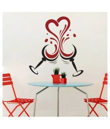 Wallmantra Love In The Wine Vinyl Wall Stickers
