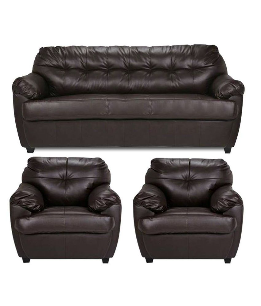 Riyaan Leatherette 3+1+1 Sofa Set