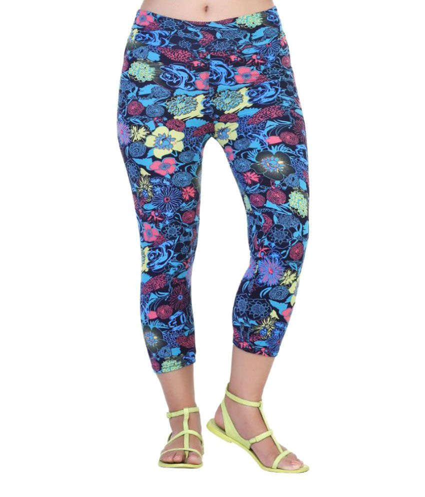 Fit 'N' You Multi Color Poly Viscose Capris
