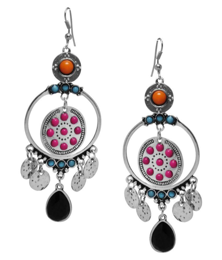 Jewelz Multicolour Alloy Hanging Earrings