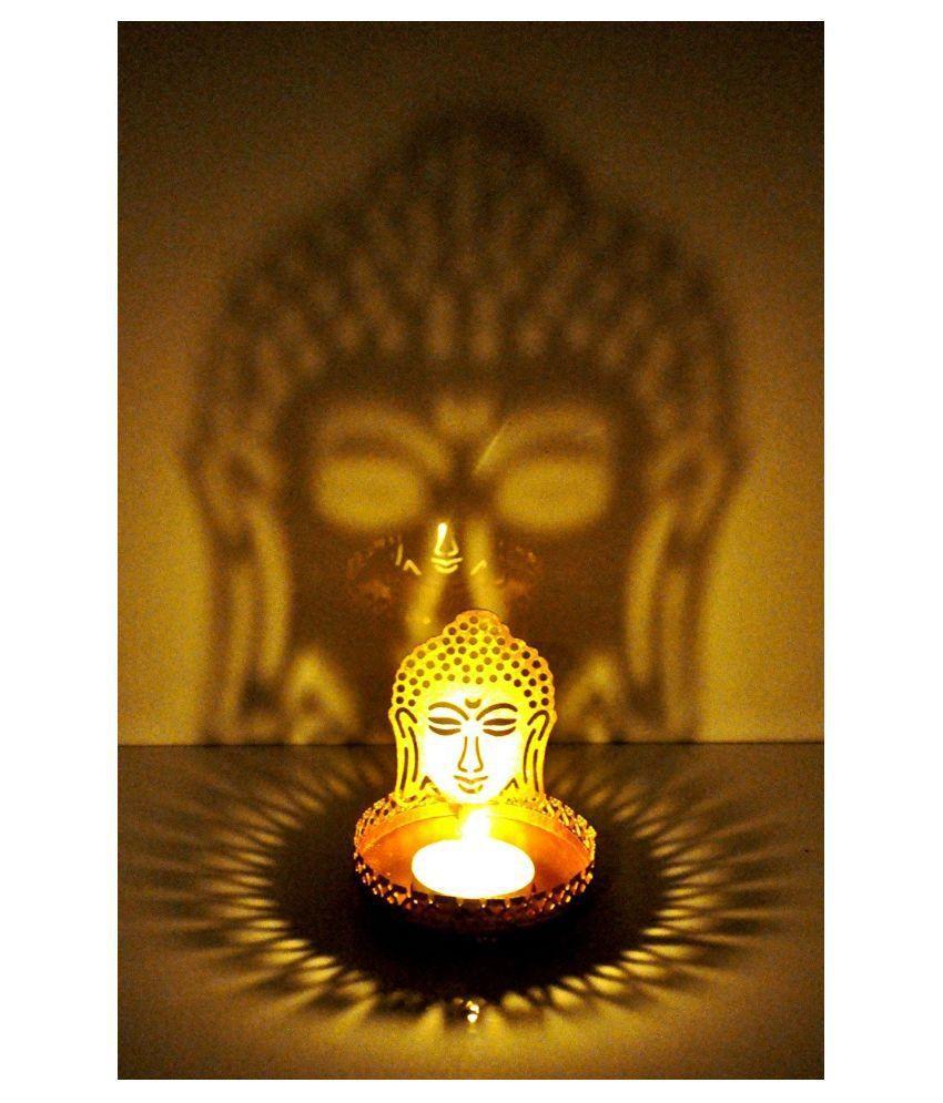 Automatic led energy saving night lamp -  Automatic Sensor Control Led Energy Saving Night Lamp Pink Indigo Creatives Lord Buddha Diwali Shadow Tea Light Table Lamp