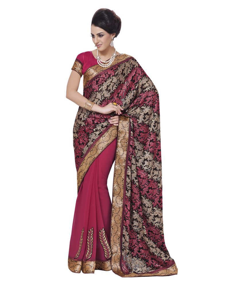 Aasvaa Multicoloured Brasso Saree