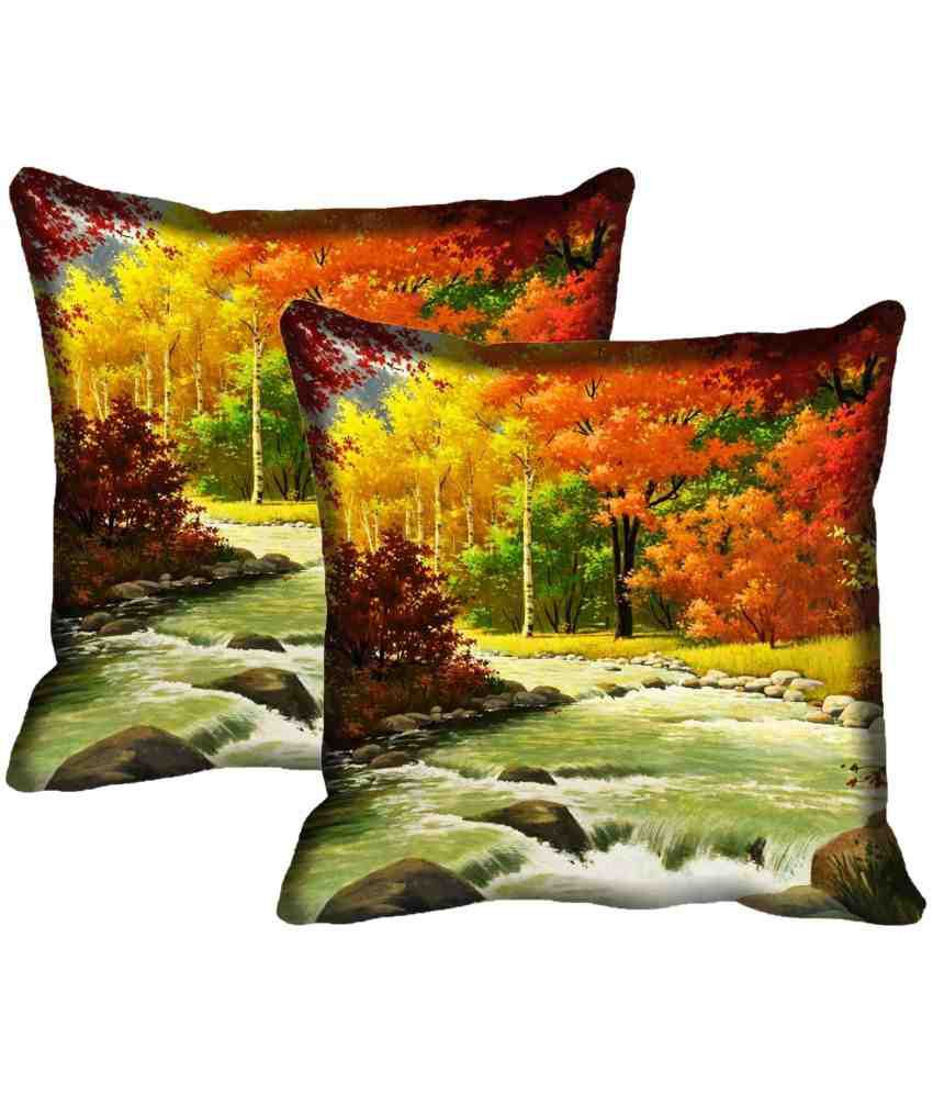 IndiWeaves Set of 2 Polyester Cushion Covers