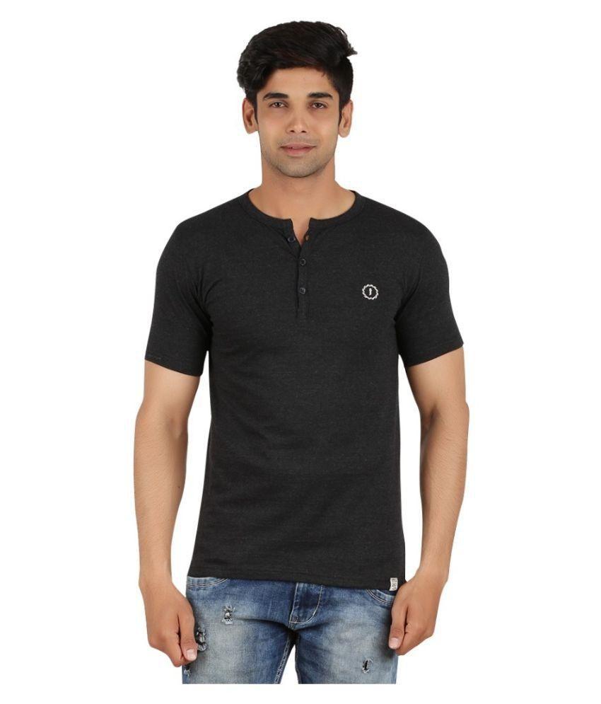 Joven Black Henley T-Shirt