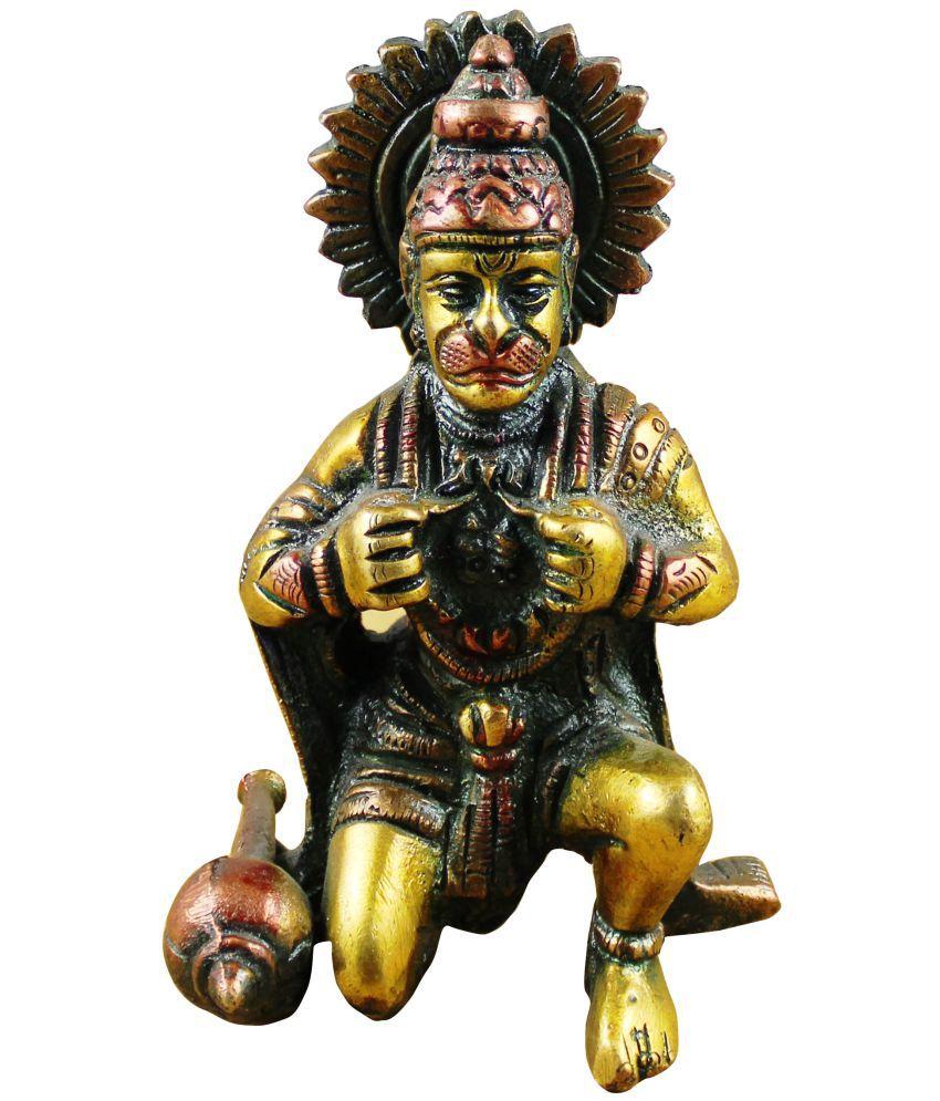 Royaltylane Hanuman Brass Idol