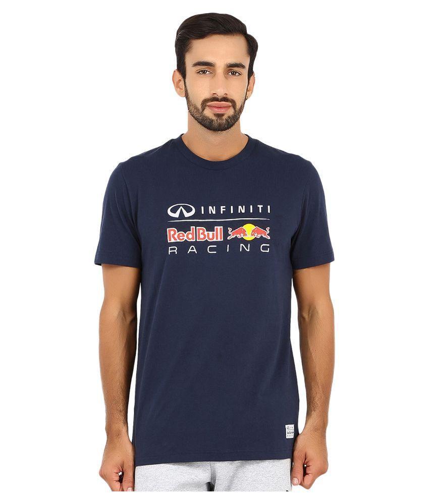 Puma Navy Cotton T-Shirt