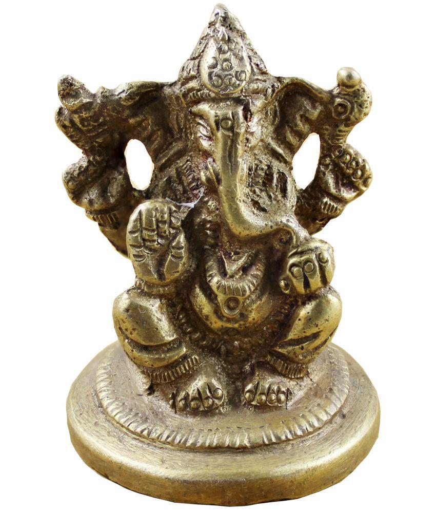 RoyaltyLane Ganesha Brass Idol
