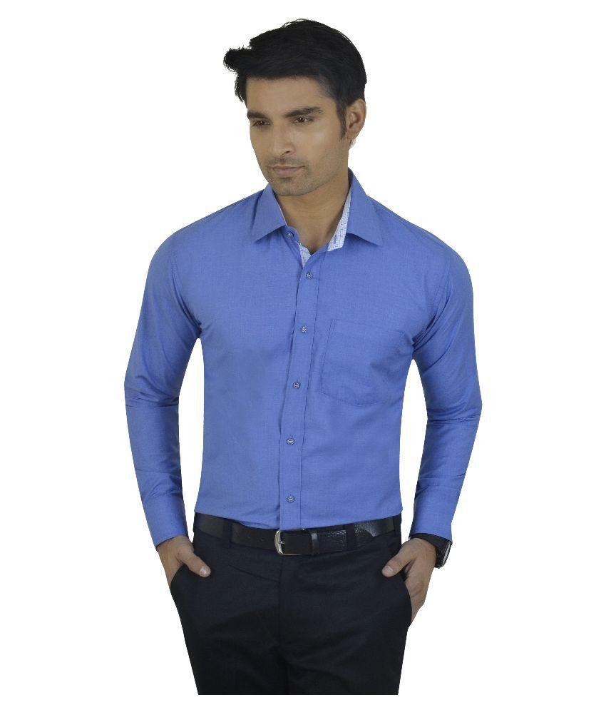 Big Brother Blue Casuals Regular Fit Shirt