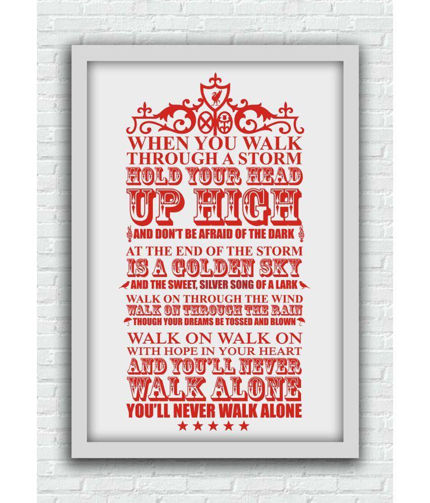 642 Stitches YNWA Song Lyrics Paper Art Prints Without Frame Single ...