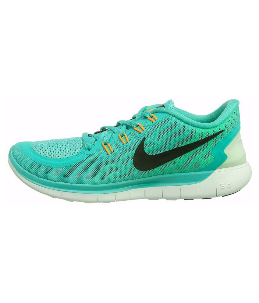 Nike Free 5.0 Green Running Shoes