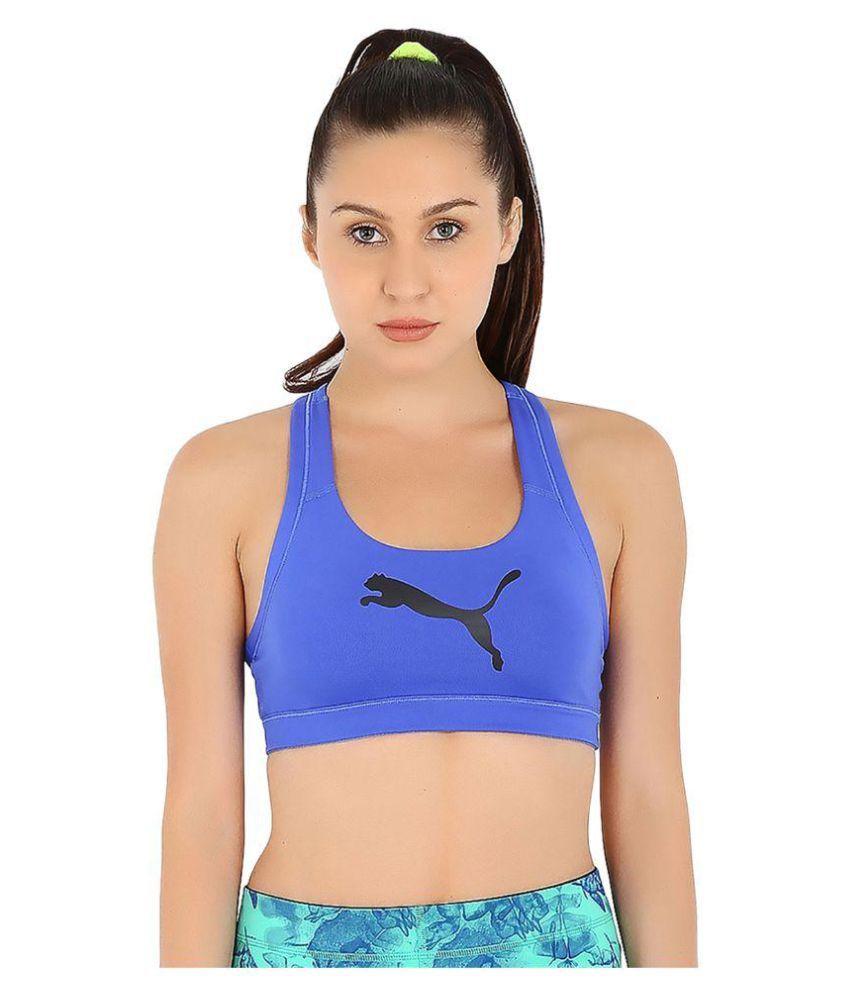 Puma Womens Blue Pwrshape Forever Sports Bra