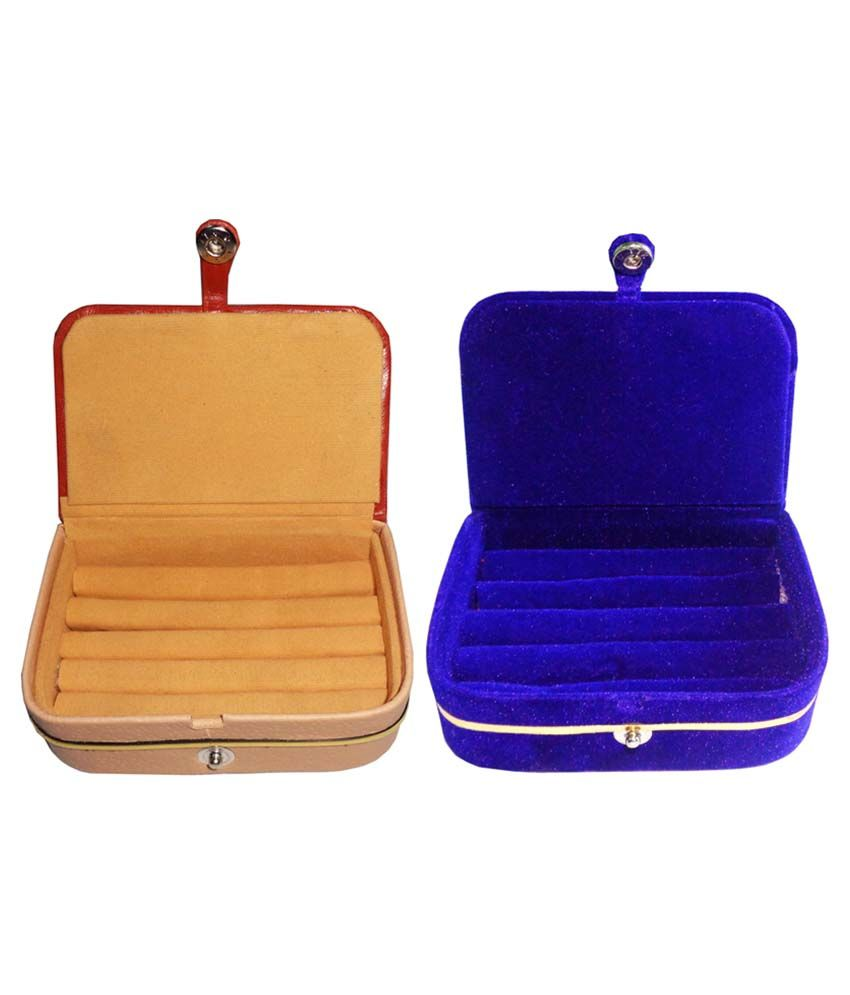 Abhinidi Wood Multicolor Ring Box with Earring Folder