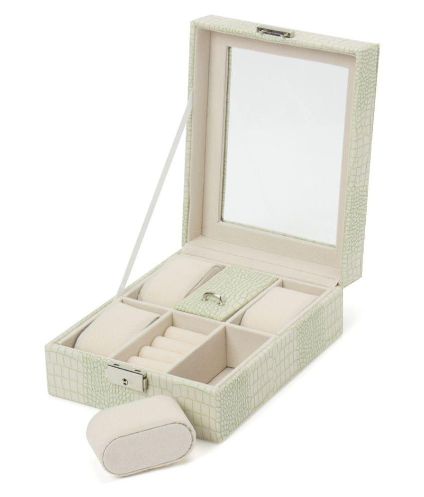 The Quirk Box Green Jewellery Box