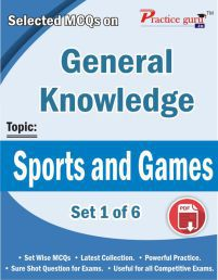 Selected Mcqs On Gk - Sports And Games Set 1 Of 6 Downloadable Content