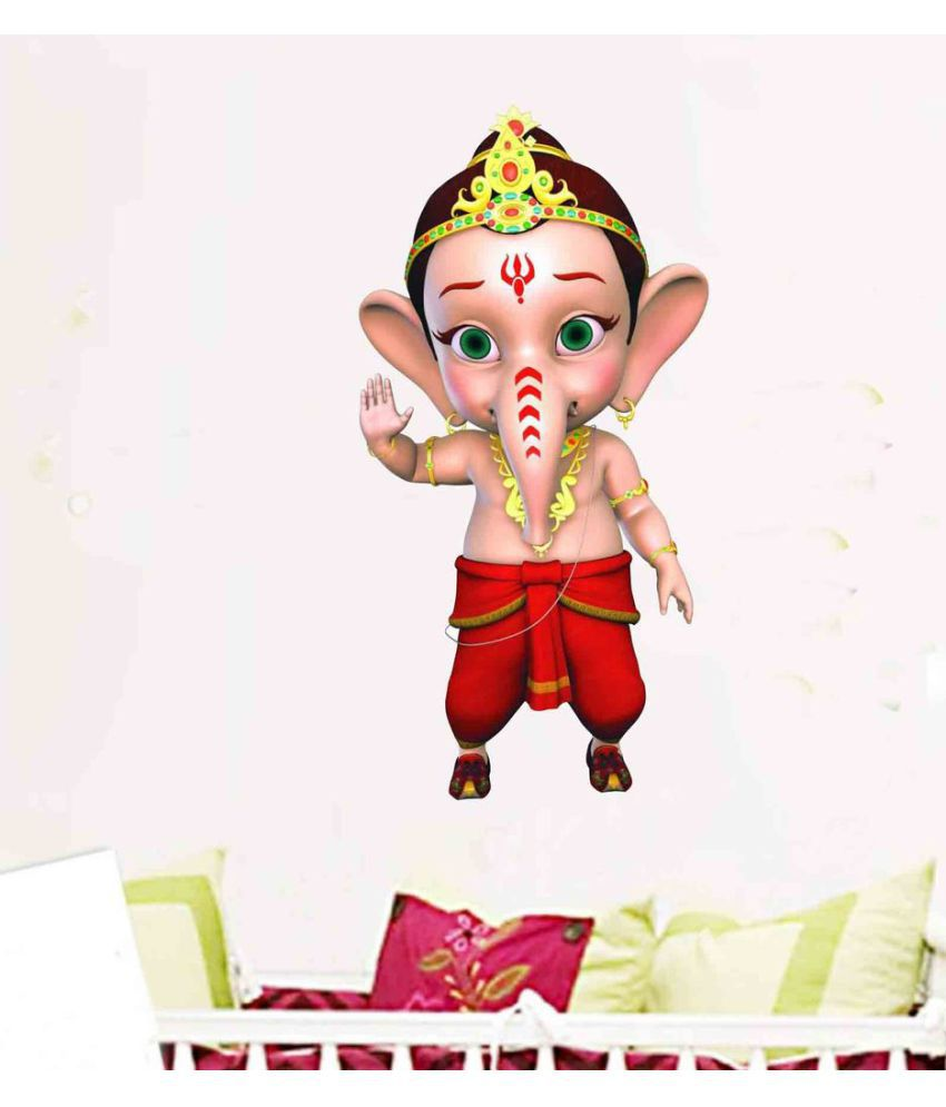 Decor villa bal ganesha vinyl wall stickers buy decor villa bal ganesha vinyl wall stickers online at best prices in india on snapdeal