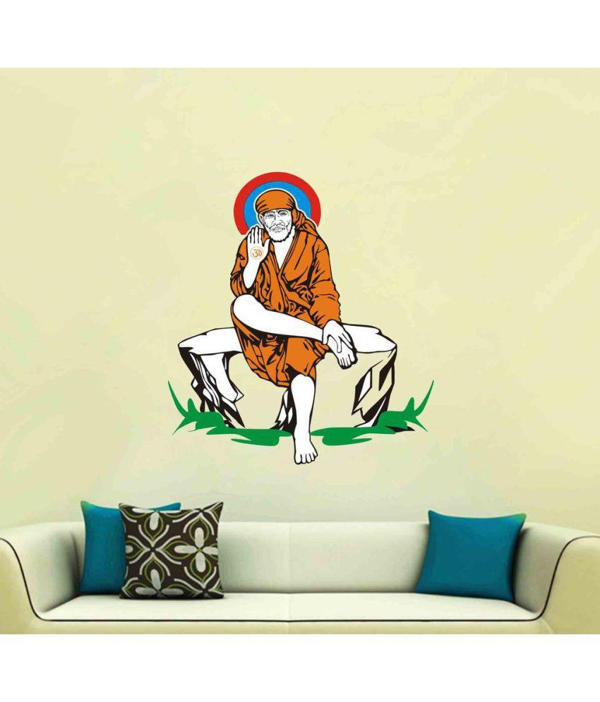 Decor Villa Sai Baba Vinyl Wall Stickers - Buy Decor Villa Sai Baba ...